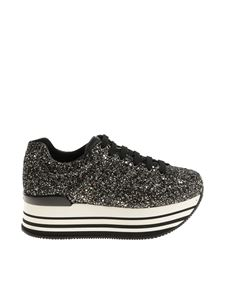 Hogan - Black and golden glitter H283 sneakers