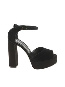 MARC ELLIS - Black velvet sandals