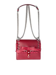 Fendi - Red Kan I small bag with ribbon