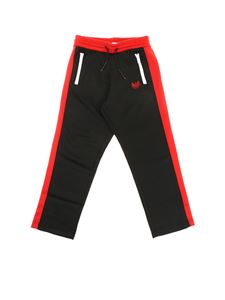 Diesel - Black and red Prussy trousers with white zip