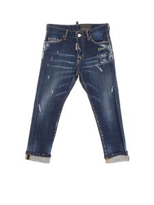 Dsquared2 - Blue Glam Head jeans with Dan embroidery