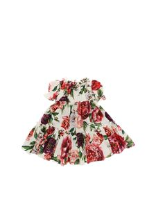 Dolce & Gabbana Jr - Peonies printed cotton coulotte dress