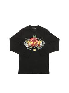 Dsquared2 - Black Icon t-shirt with skull prints