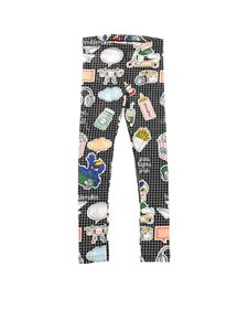 Fendi Jr - Check leggings with multicolor prints