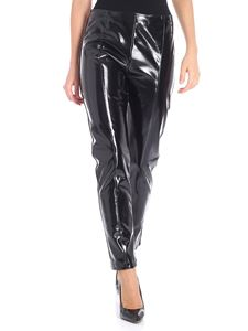 Pinko Uniqueness - Black patent leather Depilazione leggings