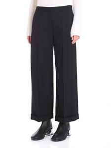 MM6 by Maison Martin Margiela - Black trousers with tailored pleat