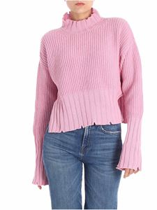 MSGM - Pink knitted crop sweater