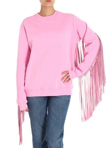 MSGM - Pink sweatshirt with fringed insert