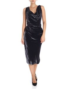 Vivienne Westwood Anglomania - Purple velvet draped Virginia dress