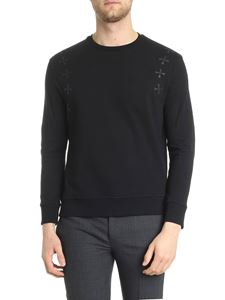 Neil Barrett - Black sweatshirt with prints