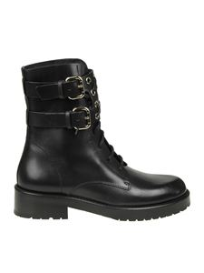Red Valentino - Black ankle boots with straps and studs