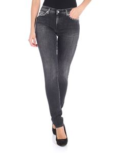 7 For All Mankind - Black Pyper jeans with studs