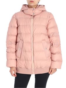 Sportmax - Pink Abelia down jacket with removable sleeves