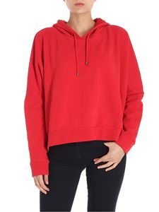 7 For All Mankind - Red overfit hoodie