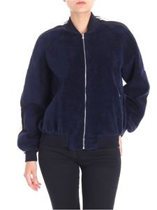 Sportmax - Blue wool and cotton Harry bomber jacket