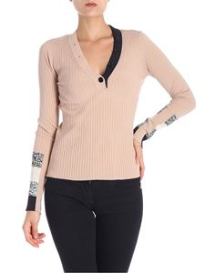 Sportmax - Beige ribbed Baltico sweater