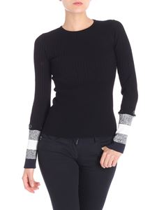 Sportmax - Black ribbed Garian sweater with removable cuffs