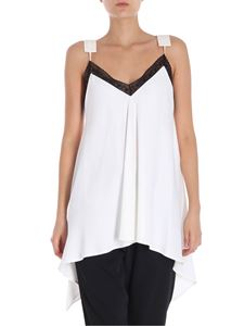 MM6 by Maison Martin Margiela - White top with asymmetrical bottom