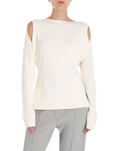 MM6 by Maison Martin Margiela - Cream-colored sweater with bow