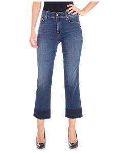 7 For All Mankind - Unrolled blue bootcut jeans
