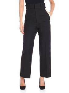 Helmut Lang - Black trousers with silk edges