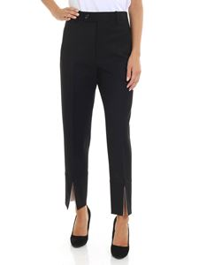 Helmut Lang - Black trousers with front vents
