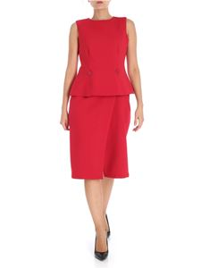 MM6 by Maison Martin Margiela - Red lined dress with removable top