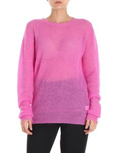 Helmut Lang - Fuchsia destroyed effect pullover