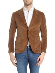 L.B.M. 1911 - Brown two buttons corduroy jacket