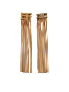 Elisabetta Franchi - Drop earrings with fringes