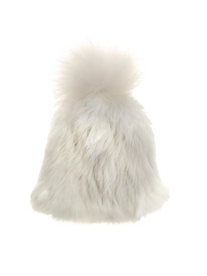 e3eecd3c6c4a Yves Salomon Fall Winter 18 19 white bonnet fur beanie ...