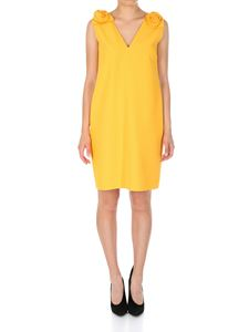 MSGM - Yellow dress with rose inserts