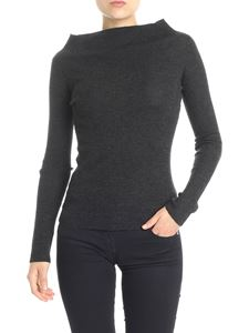 360 Cashmere - Anthracite ribbed sweater