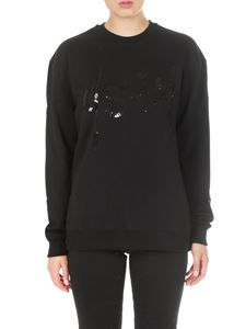 MSGM - Black sweatshirt with sequins