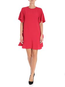 Red Valentino - Red short dress with ruffled inserts