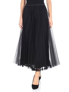 Red Valentino - Black pleated long skirt