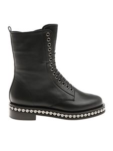 Le Silla - Black Harvey ankle boots with rhinestones