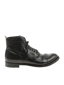 Officine Creative - Black leather Anatomy 16 ankle boots