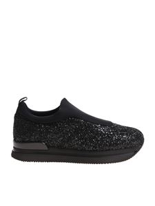 Hogan - H222 black glittered slip on