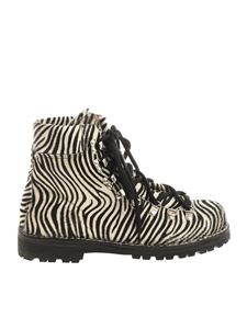 Le Cortina by Andrea Ventura - Zebra-striped calf-hair ankle boots