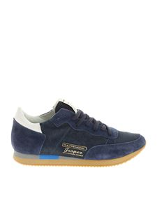 Philippe Model - Blue Tropez Vintage West washed leather sneakers