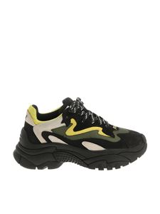 Ash - Black yellow and green Addict sneakers