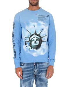 Off-White - Light blue Liberty sweatshirt