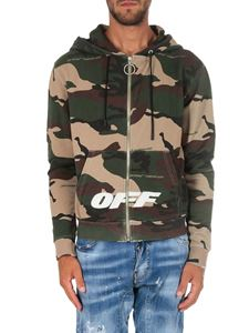 Off-White - Camouflage zip hoodie