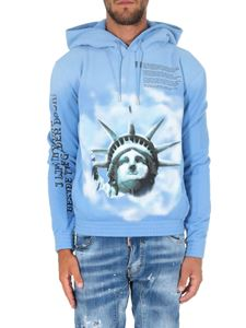 Off-White - Light blue Liberty hoodie