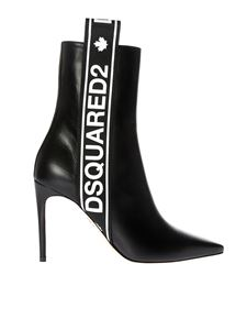 Dsquared2 - Tape black pointy ankle boots