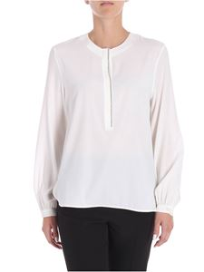 Le Tricot Perugia - White blouse with micro beads
