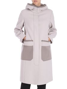 Lorena Antoniazzi - Grey and taupe wool coat