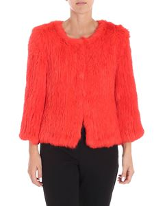 Yves Salomon - Red lapin fur jacket