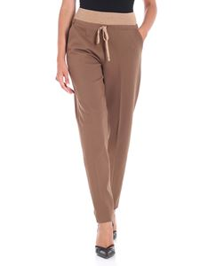 Le Tricot Perugia - Brown trousers with drawstring